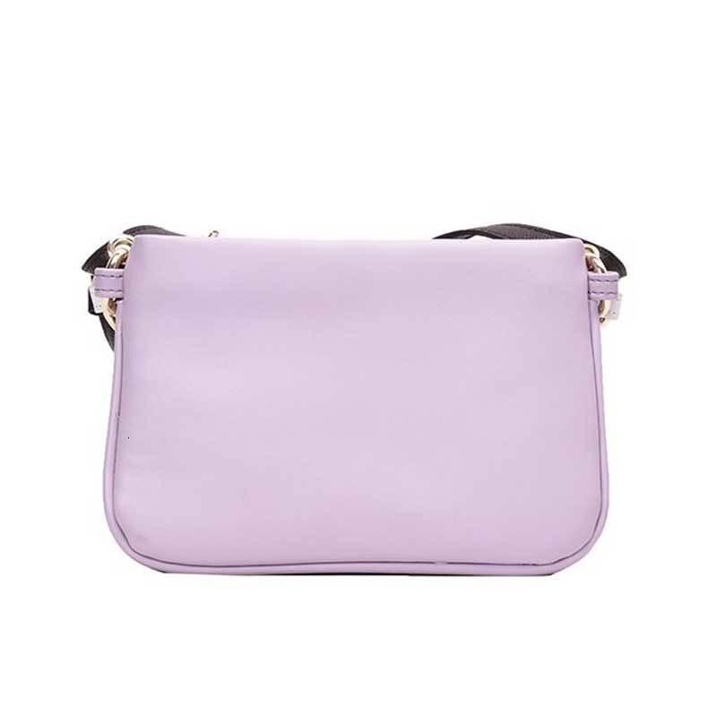 Adatti a signora Messenger solido di colore semplice Donne spalla dell'unità di elaborazione di cuoio femminile Incontri Shopping Bag Piccola Piazza Viola
