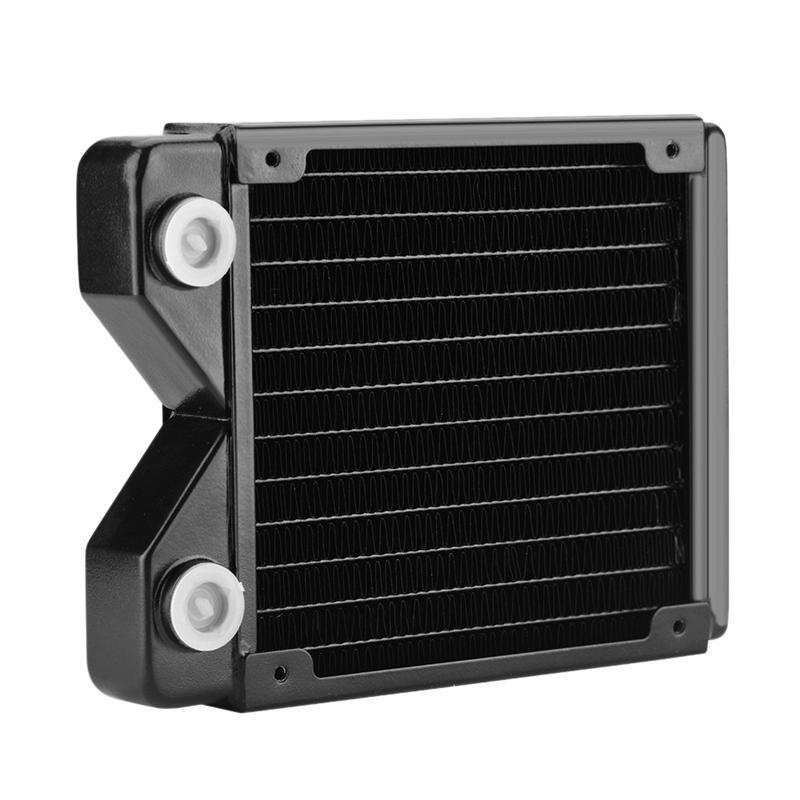 Copper Heat Radiator,G1/4 Threads Heat Radiator Exchanger Water Cooling Computer Sink with Excellent Dissipation Abili
