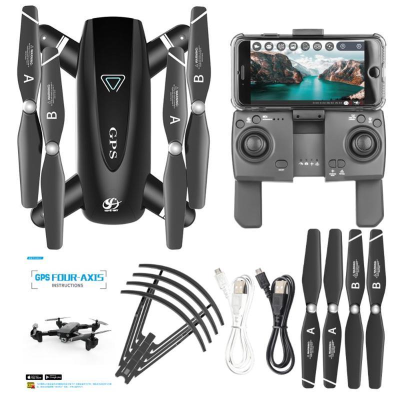 2020 WIFI FPV Складная GPS Drone с камерой RC Quadcopter высокого качества Дроны HD 4K Летающие Фото Видео Drone Вертолет игрушки