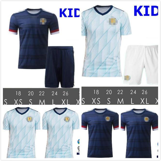 Livraison Gratuite Dernière Thai Qualité 2020 2021 Écosse Soccer Jerseys 2020 Ecosse Accueil Homme + Enfants Fraser 11 Burke 9 Chemise de football