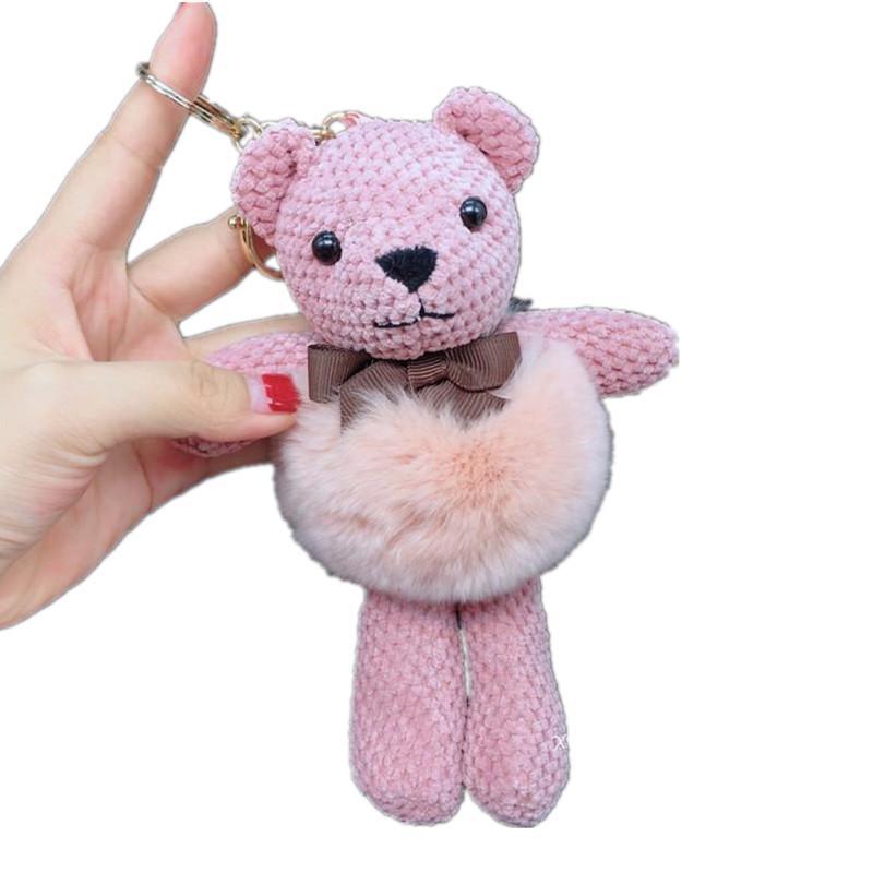 19CM الأناناس التكتيك تيدي بير مع الفراء الذهبي KeychainBag / الهاتف المحمول / الديكور المنزلي الدب قلادة هدية لعبة القطيفة