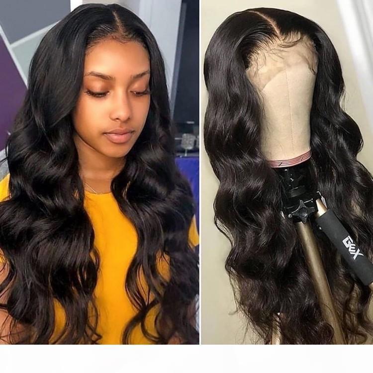 Ola de cuerpo color natural peluca de encaje completo encaje suizo indio brasileño indio malayo cuerpo onda cabello humano pelucas frontales con pelo