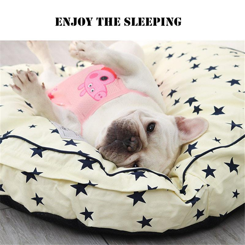 Round Pet Bed Dog Lounger Mat Cat Nest Thick Puppy Sleeping Cushion Washable Dog Basket Kennel House Kitten Sofa Pet Supplies