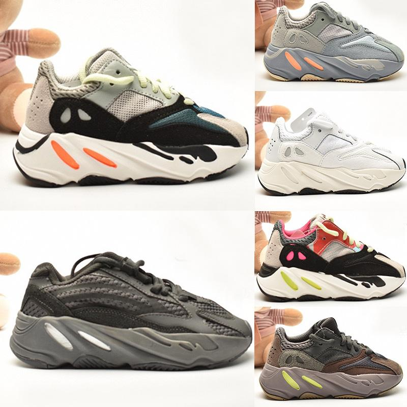 2020 Yeezy 700 V2 kid Running shoes Kanye West  Ragazzi Ragazze Scarpe Running Light Trainer Ragazzi Sneakers bambini pattini atletici 26-35