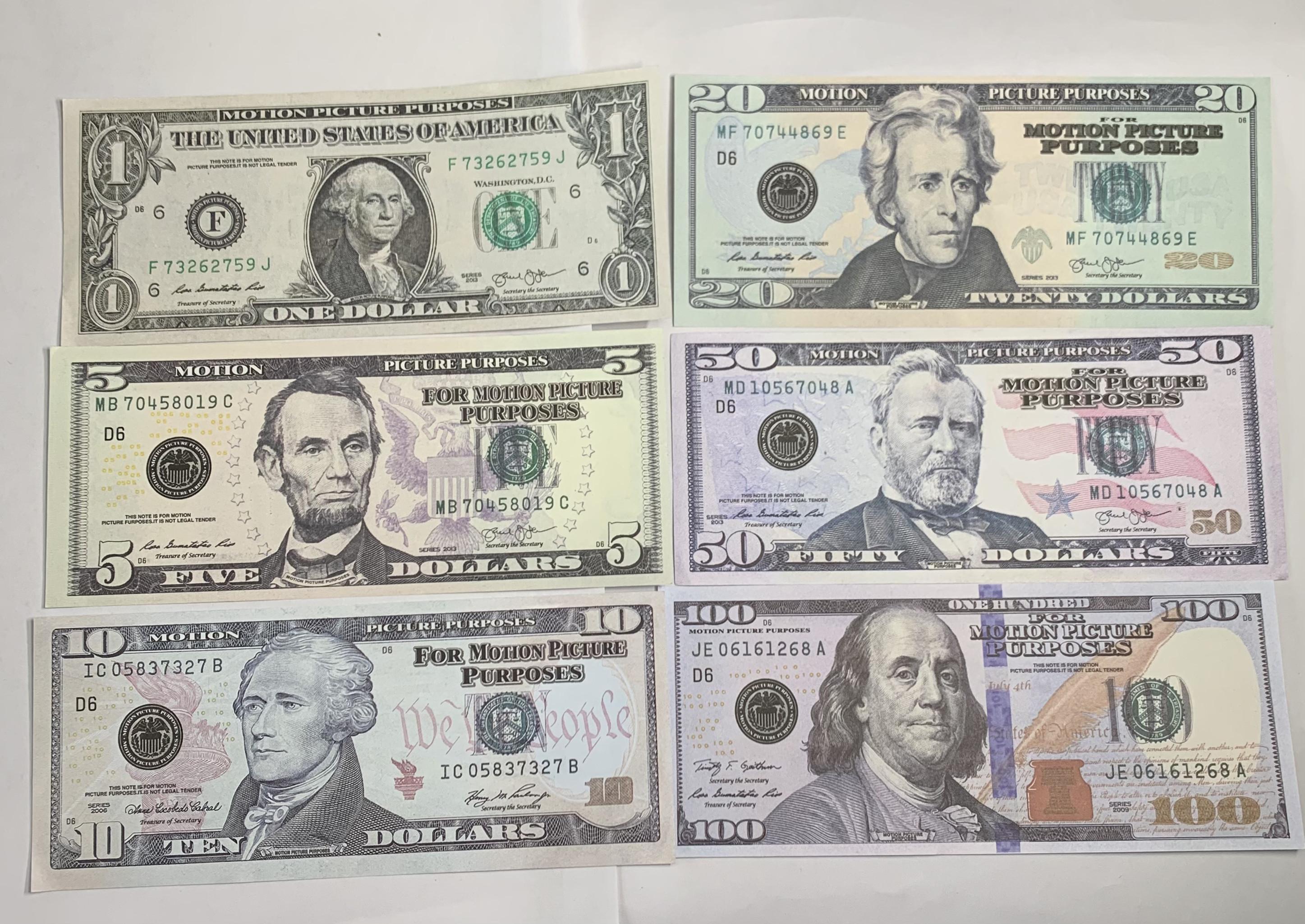 PROP DINERO 20 DÓLO 1 LA-011 10 REGALO FAKE 50 100 TICKET FALSET PLAY MONEY BANTENOTE FCITO FCITO NIÑOS COLECCIÓN DE BOLETAS 5 TOY SLXLH