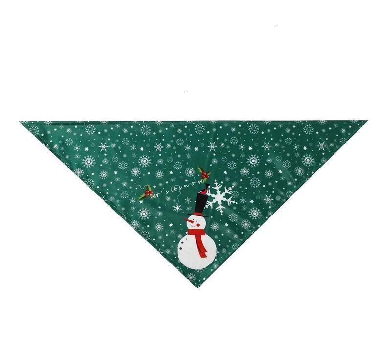 Santa Triangle Bandanas Christmas Scarf Dog Snowflake Claus Snowman Pet Kerchief Costume Accessories For Dogs Cats Xmas Apparel
