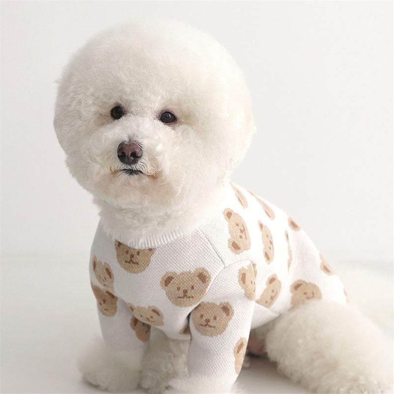 Vêtements de chien de mode imprimé pull chien chiot vêtements pour animaux de compagnie pour petits chiens moyens costumes chihuahua vêtements d'animaux de compagnie Ropa perro Pug 201127