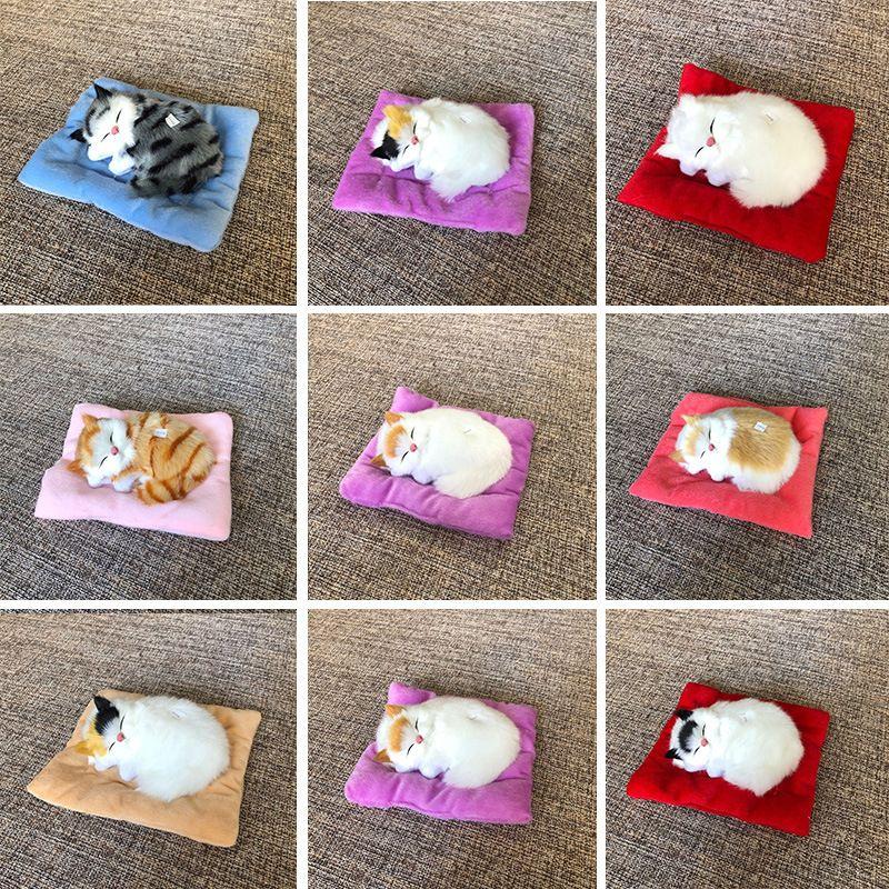 Simulación de gatos Juguetes de peluche 18 * 16 cm Hace un sonido Cat Muñecas de peluche Peluche Decoración de automóviles Z1050