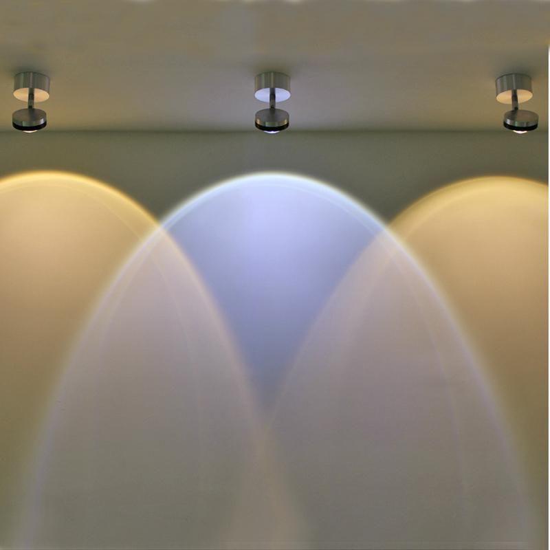 Lámparas de pared LED ajustables 3W Wall Sconence Light para sala de estar Corredor de arte Galería de arte Ropa para la decoración de la iluminación de la decoración