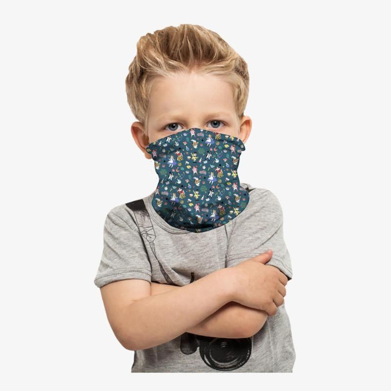 في الهواء الطلق للأطفال كامل التغطية أنبوب قناع الوجه مناديل حماية من الأشعة فوق الرقبة الجرموق العصابة الرياضة ركوب الدراجات قناع