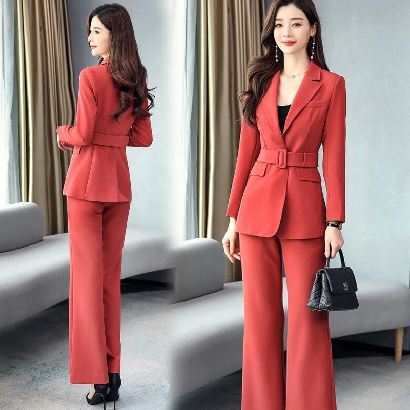 xZ2vQ primavera 2020 pequeno profissional casu mostra cintura terno Primavera de duas peças de dois pieceand temperamentsuit e calça capaz de suitwomen