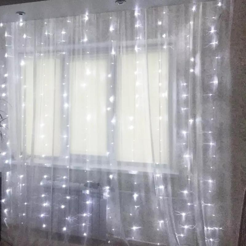 2021 6 m Noel Garlands Icicle Perde Dördüncü Düğün Süslemeleri için LED Peri Işıkları Yeni Yıl Hafif Tatil P1QY