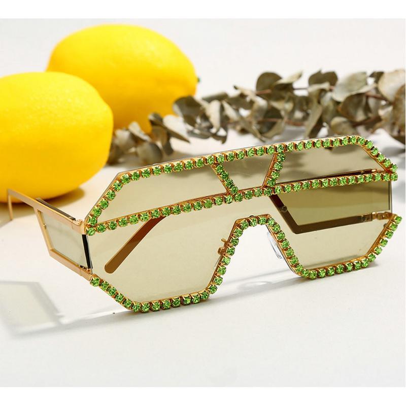 NX Style 2020 Mincl / New Bling Солнцезащитные очки Женщины Горный Хрусталь Мужские Очки Старинные дизайнер Bling Негабаритный Человек Чумт