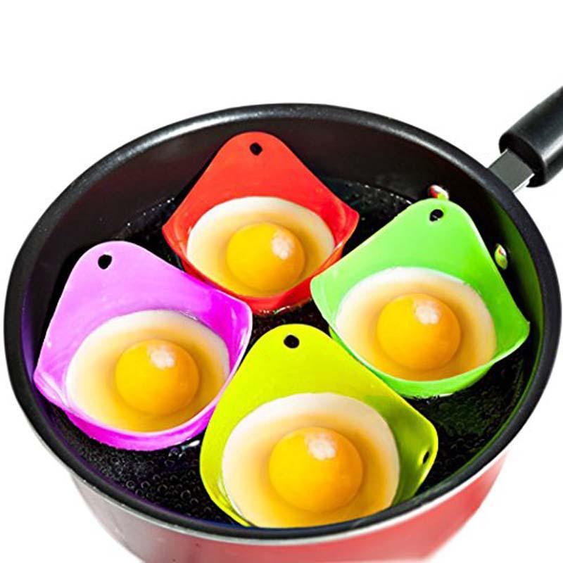 Silicone pocheuse Braconnage pods Egg Mold Bowl Anneaux Cooker Cuisine chaudière Outils de cuisine Pancake Maker RRA3678