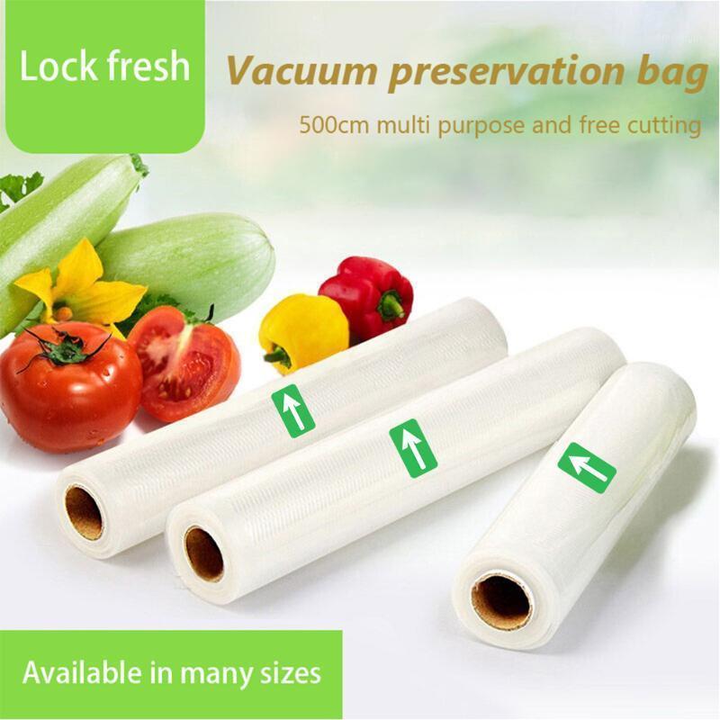 3 pcs sacos de vácuo 12/15/20/25/28/30 x 500cm para cozinha manter fresco rolls de poupança de vedação de vácuo em casa sacos de packer1