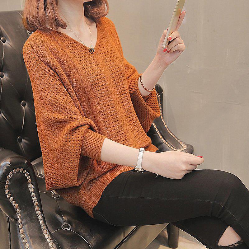 de las mujeres de gran tamaño suéter suéteres de los géneros de punto remiendo hecha punto rayada Pullover Swetry DAMSKIE Gray22