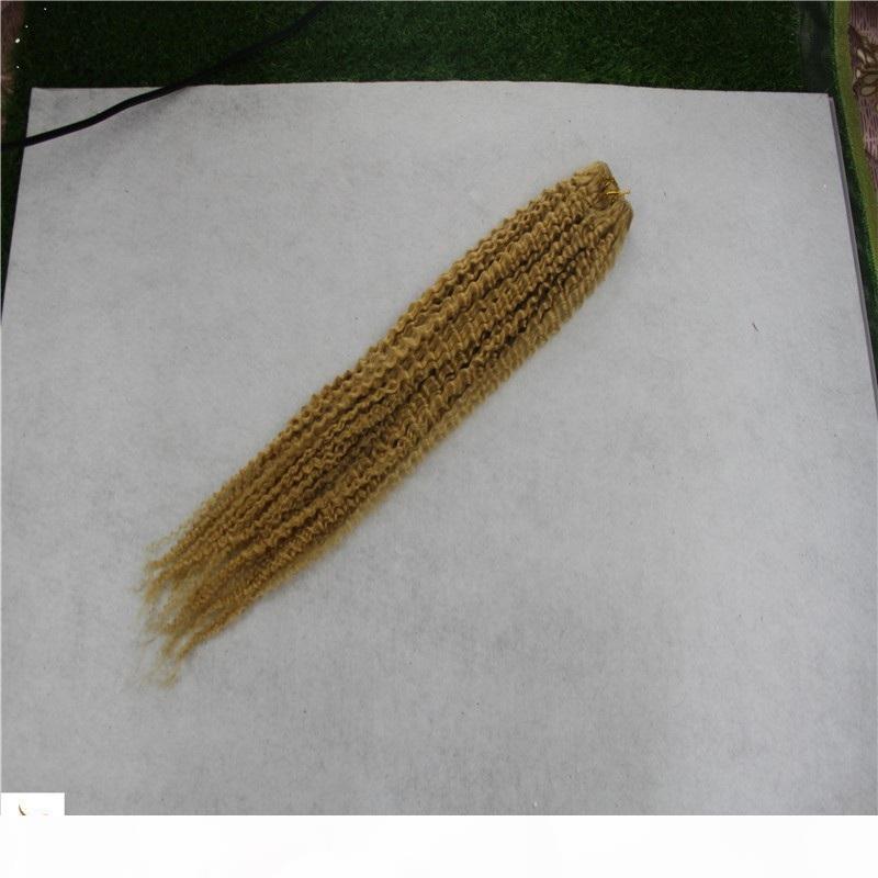 Brazilian Strawberry Blonde Color Curly Hair Weave Bundles 10-30 Inchs 6a Virgin Hair Weaving 100% Human Hair