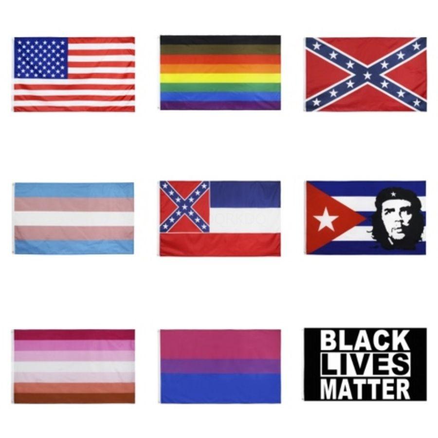 Gökkuşağı Bayrağı 3X5FT 90x150cm Lezbiyen Gay Pride Polyester Bayrağı Polyester Renkli Gökkuşağı Bayrağı İçin Dekorasyon IC615 # 916