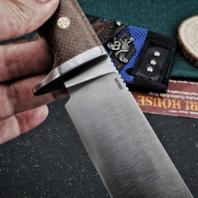Python hunting knife M390 powder steel blade camping Tactical Combat outdoor tools