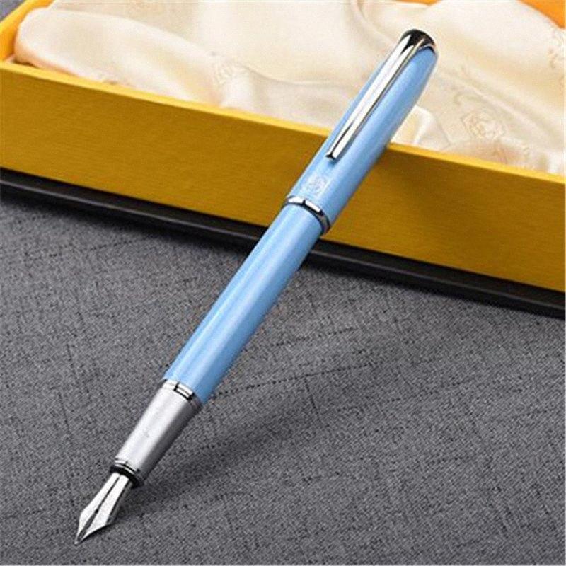 1шт / серия Пикассо 916 Fountain Pen Малага Синий ручки Серебряный клип Iraurita Письменные принадлежности Канцелярские товары Студенты Подарки 13.6 * 1.1cm k6TE #