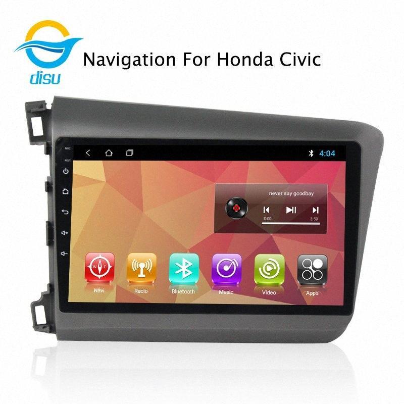 자동차 라디오 멀티미디어 비디오 플레이어 네비게이션 GPS 안드로이드 8.1 9 인치 지원 미러 링크에 대한 Civicleft2012 2015 자동차 DVD 자동차 DVD 플레이어 90XN 번호