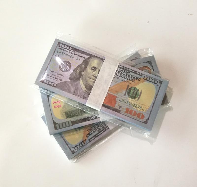 Neue US-Dollar Hot Sales Gefälschte Geld Filme Prop 100 Dollar Banknote Zählen PROP MONEY FESTIVE Party Spiele Sammlung Geschenke