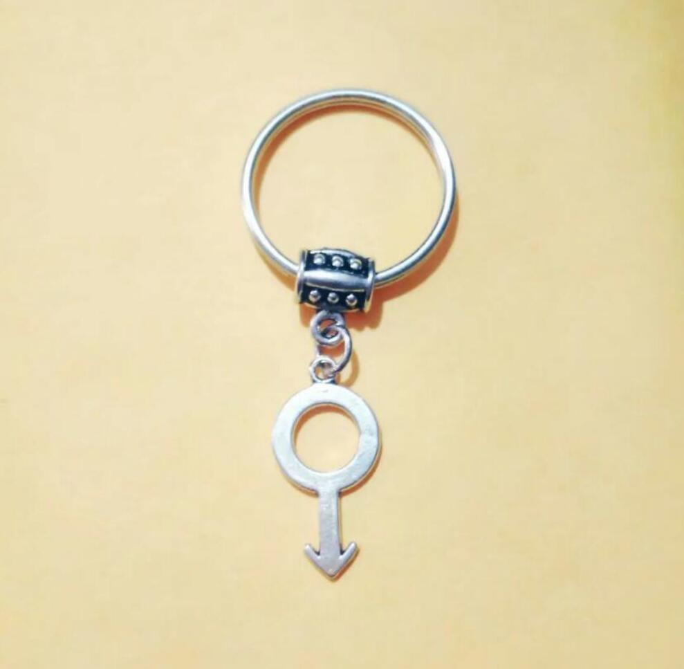 NEW HOT Fashion jewelry MEN Symbol/Male Mark Keychain - charm pendant key chain ring DIY Fit Keychain - 207