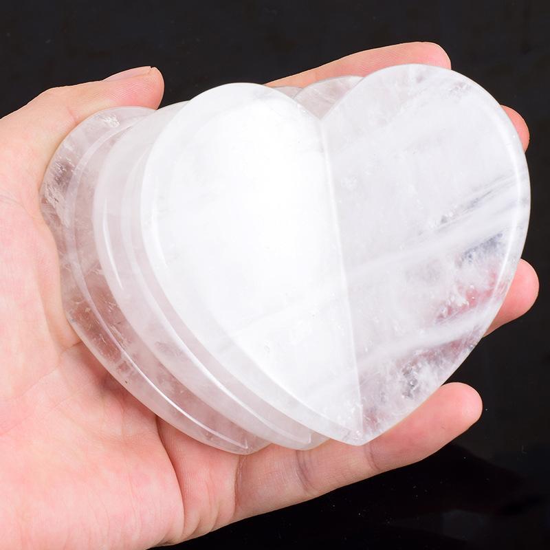 Saúde Coração Amor Coração Natural Jade Jade Branco Cirstal Facial Guhasa Board Spa Acupuntura Scraping Cura Massagem Gua Sha Tool