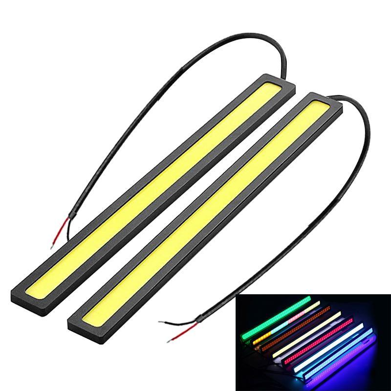 10X 17 centimetri 12V COB LED DRL luci diurne luci correnti striscia di luce di funzionamento auto impermeabile Car Styling Lampada LED Car
