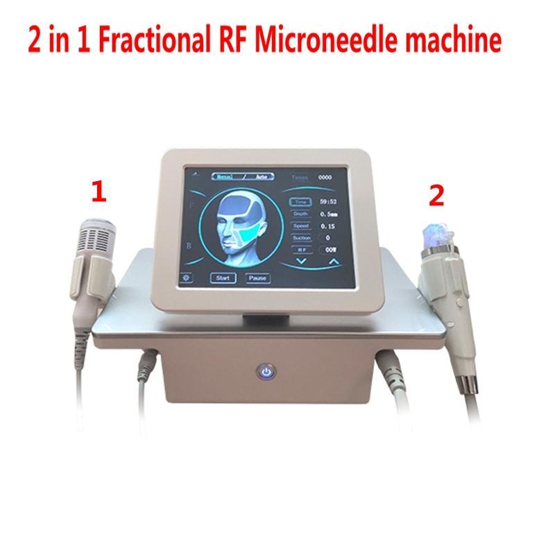 2 в 1 фракционной машине Rf MicroNEEDLE с холодным молотком против прыщей Усаживаются порыми порыми лицами подтяжки кожи уход за кожей
