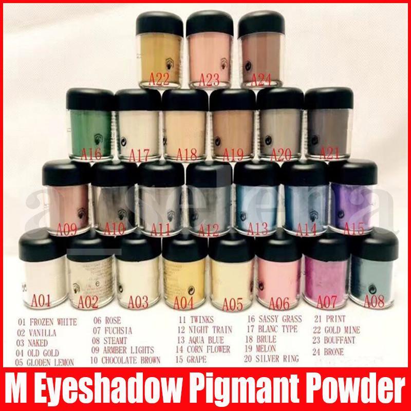 M Trucco dell'occhio 7.5g pigmento dell'ombra mineralizzano occhi con i colori inglesi Nome 24 colori