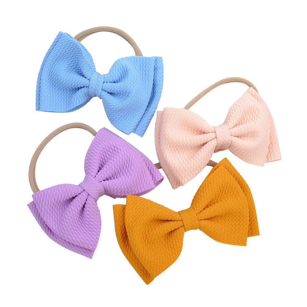 Candy Sólido Cor Bow Head Headband Ribbon Bobing Headwear Fotografia Recém-nascido Pessoas Adolescentes Girls Bow Tiara Tiara Headwrap Acessórios112 109 Q Bbywok
