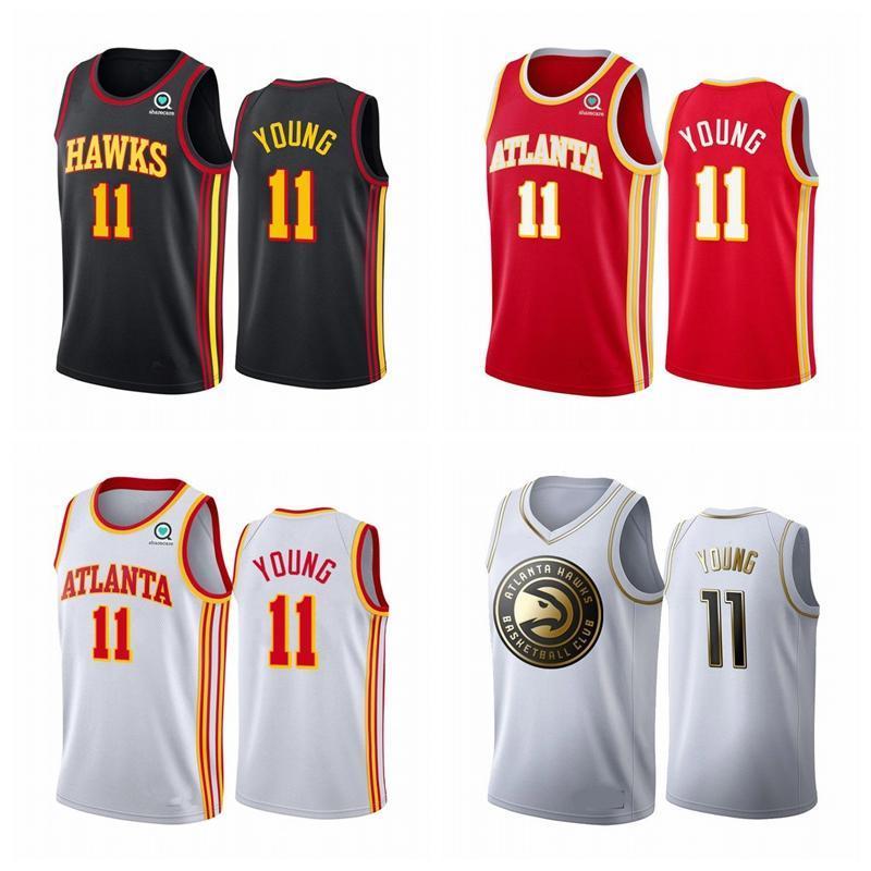 Atlanta dos homens de NCAAHawks.Jerseys de basquete Trae 11 jovens 2020 costurados Vancouver Vintage Black Basketball Jerseys 1223