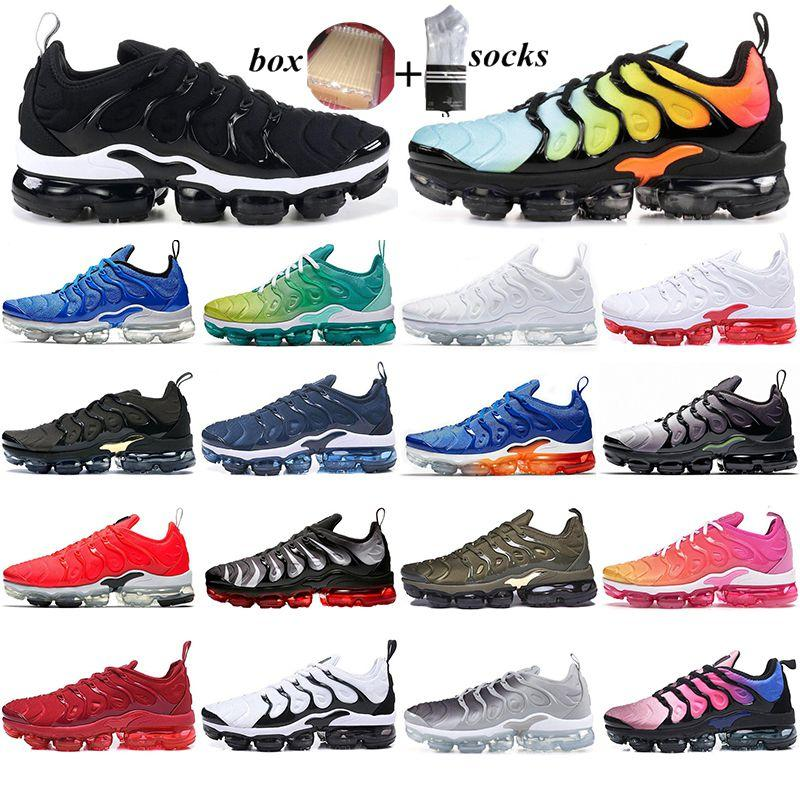 With Box 2021 TN Running Shoes triple black Olympic Hyper Violet BETRUE Mens Trainers Game Royal BLUE ORANGE Sport Sneakers outdoor walking
