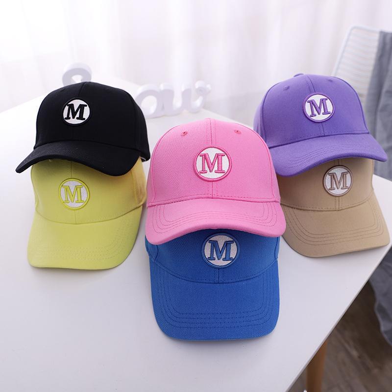Bahar, yaz, yeni çocuk beyzbol şapkası güneş güneş şapka mektupları bebek şapka moda karikatür kavisli saçaklar