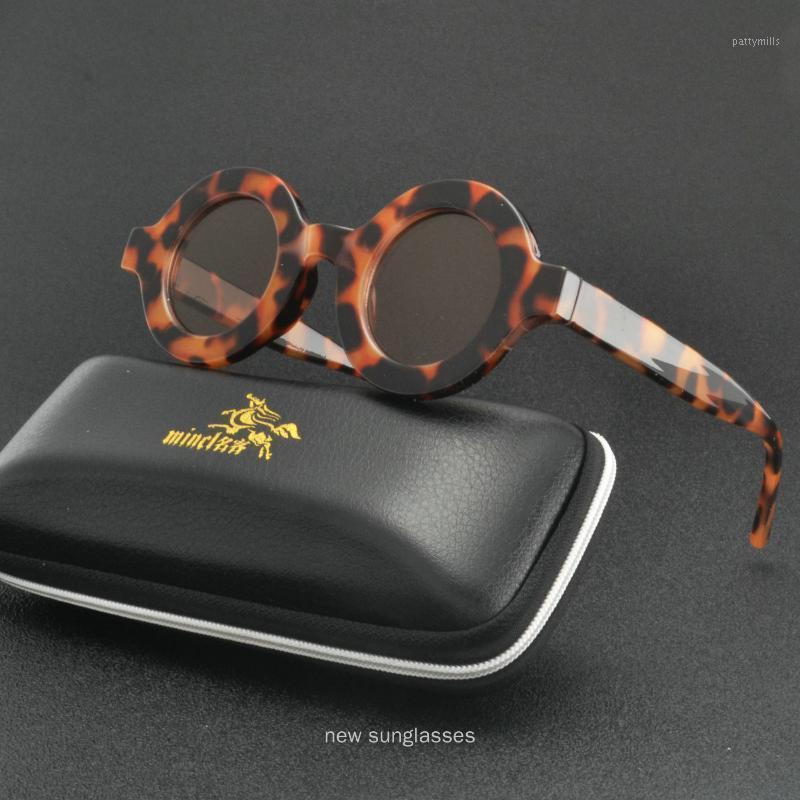 Óculos de sol 2021 Feminino Leopard Frame Fashion Rodada para Mulheres UV400 NX1