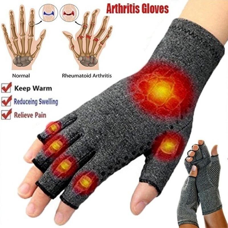 1 Çiftler Dokunmatik Ekran Karşıtı Artrit Tedavisi Sıkıştırma Eldiven ve Açe Ağrı Ortak Yardım Kış Sıcak