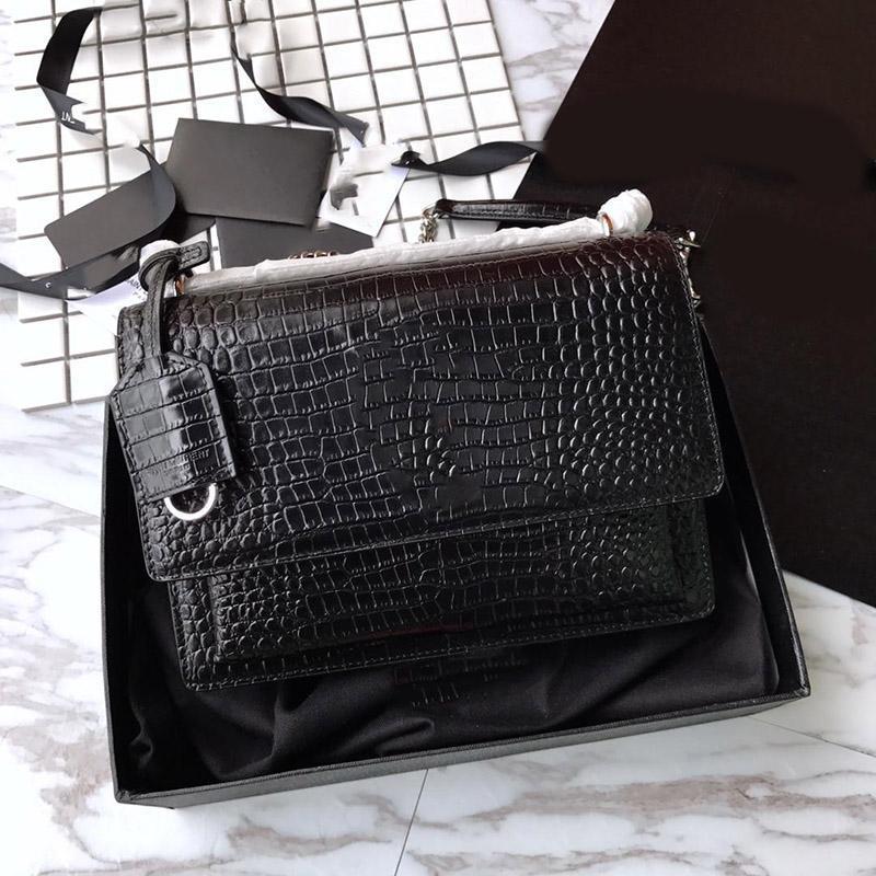 Vendedor caliente Mujer Diseñador Bolsos 2019 Bolsa de calidad Top Cuero Compras Crossbody Cuero Cadena Bolsas Messenger Bag de lujo Hombro Gen Jpho