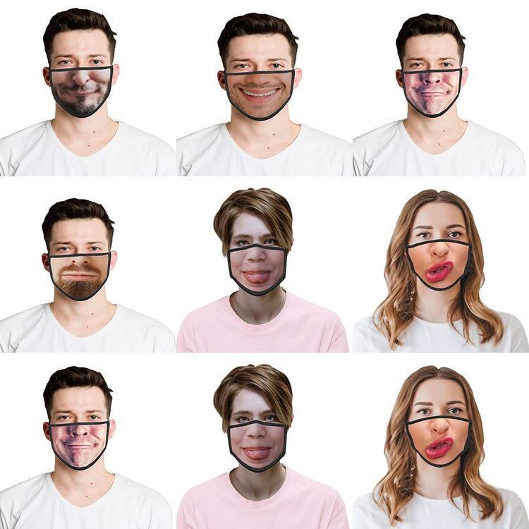 WqJGc С Face FilterHalf 3D печати шаблон для лица Рот CoverReusable CoverFun Два Сменная дышащий лица банданы для пыли Waterpr Mvvh