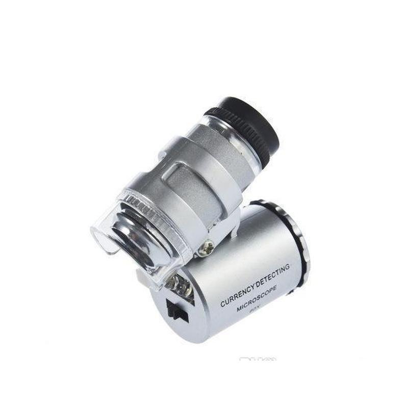 60x يده مصغرة جيب المجهر loupe المجوهرات المكبر الصمام ضوء سهل تحمل مع عدسة مكبرة A660 T7WCN