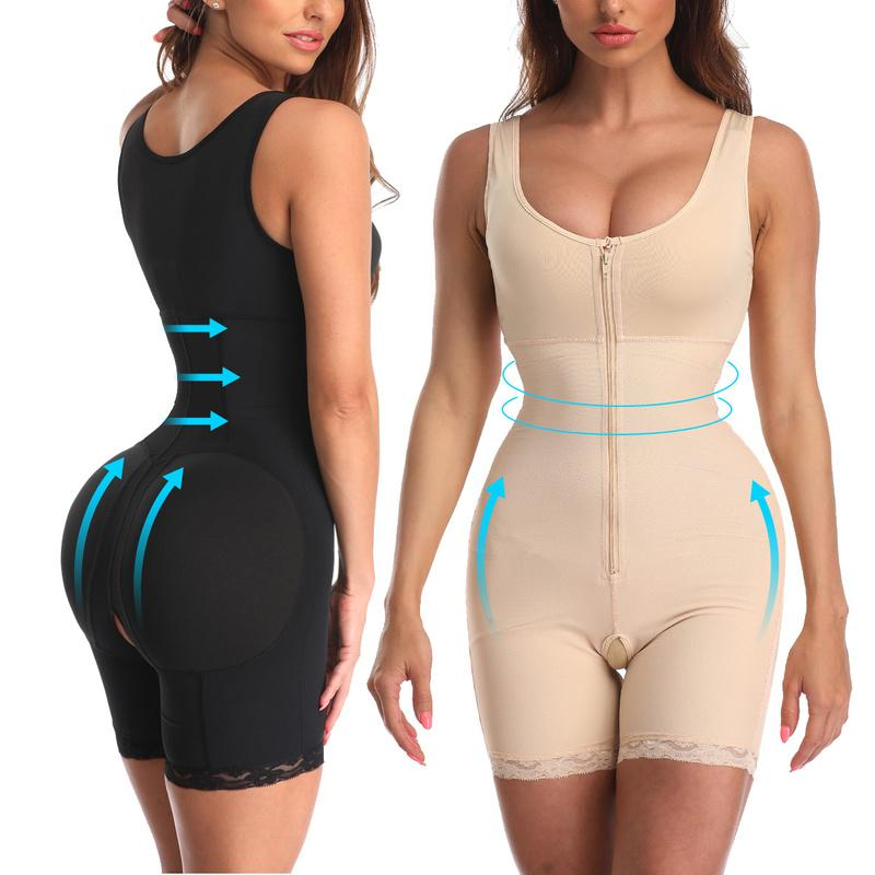 Waist Trainer Womens Plus Size Butt Lifter with Tummy Control Shape Wear Full Body Shapewear High Waisted Fajas Colombianas