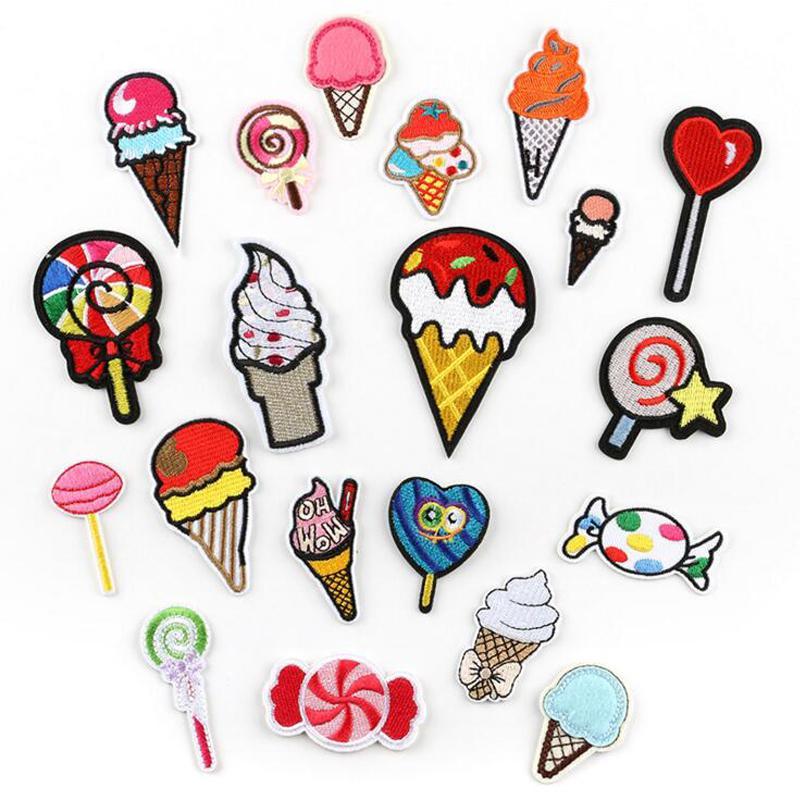 Lollipop Candy Barato Kid Bordery Design Candy Sweet Forma Bordado Patch Coser en la insignia Hierro en Bordado