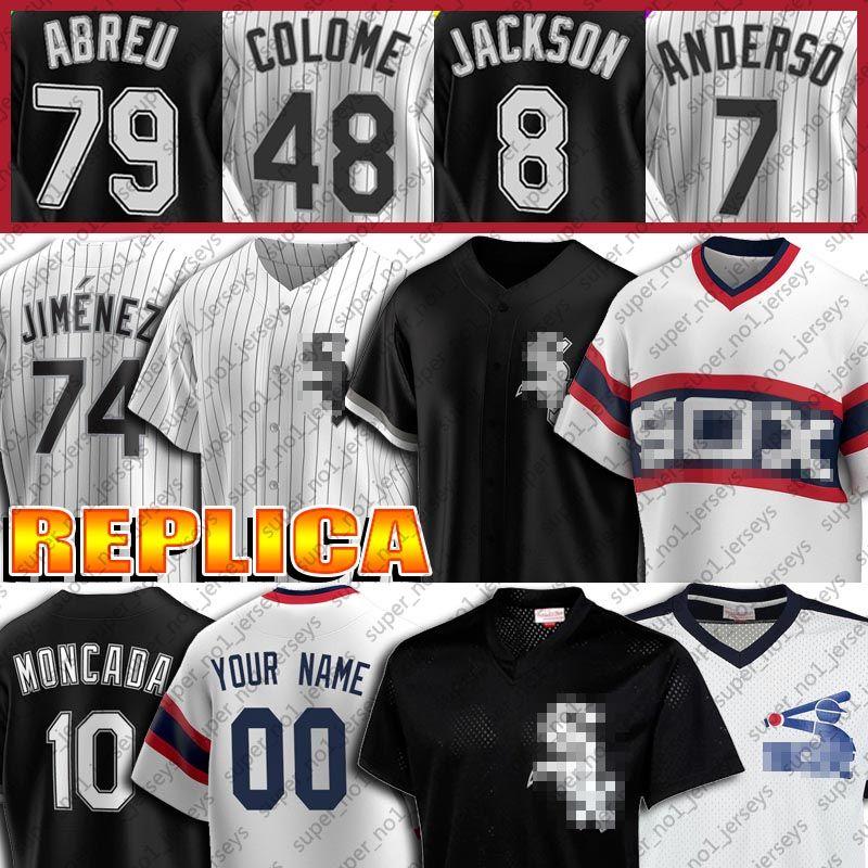 74 Eloy Jimenez 88 Luis Robert Jersey 8 Bo Jackson Jersey Yoan Moncada Jerseys Frank Thomas 7 Tim Anderson personalizado Baseball Jersey