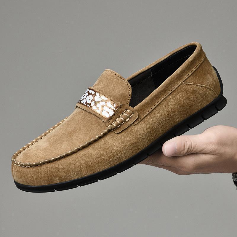 Мужская обувь Мокасины Модная обувь Повседневная мужская Мокасины из натуральной кожи Mans Мокасины Мягкие квартиры мужчины Zapatos HOMBRE
