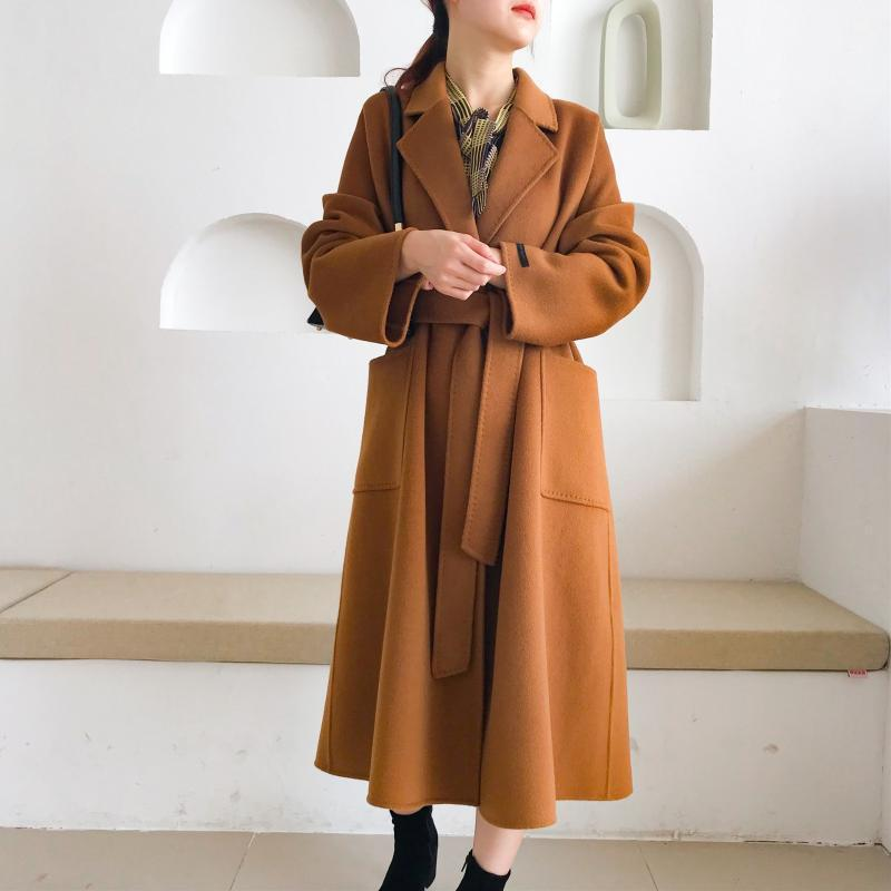 Gu Jia Nursery Rhyme El mismo abrigo de lana de longitud de longitud de doble cara de otoño e invierno para mujeres 2020 nuevo abrigo de lana1