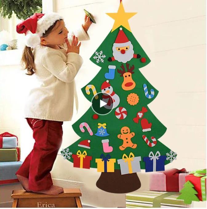 شعر الأطفال diy شجرة عيد الميلاد الديكور عيد الميلاد للمنزل نافيداد السنة الجديدة هدايا عيد الميلاد الحلي سانتا كلوز شجرة عيد الميلاد