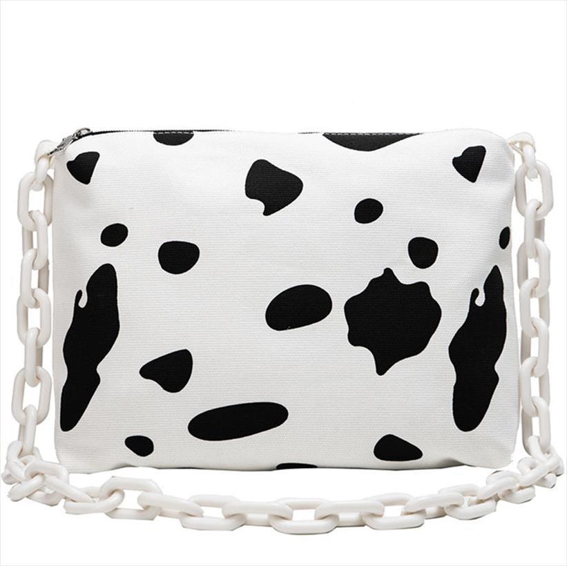 Aelicy mulheres Mensageiro Shoulder Bag Cow Mulheres Imprimir Dots Bag Grande Capacidade Canvas Zipper Crossbody Mulher
