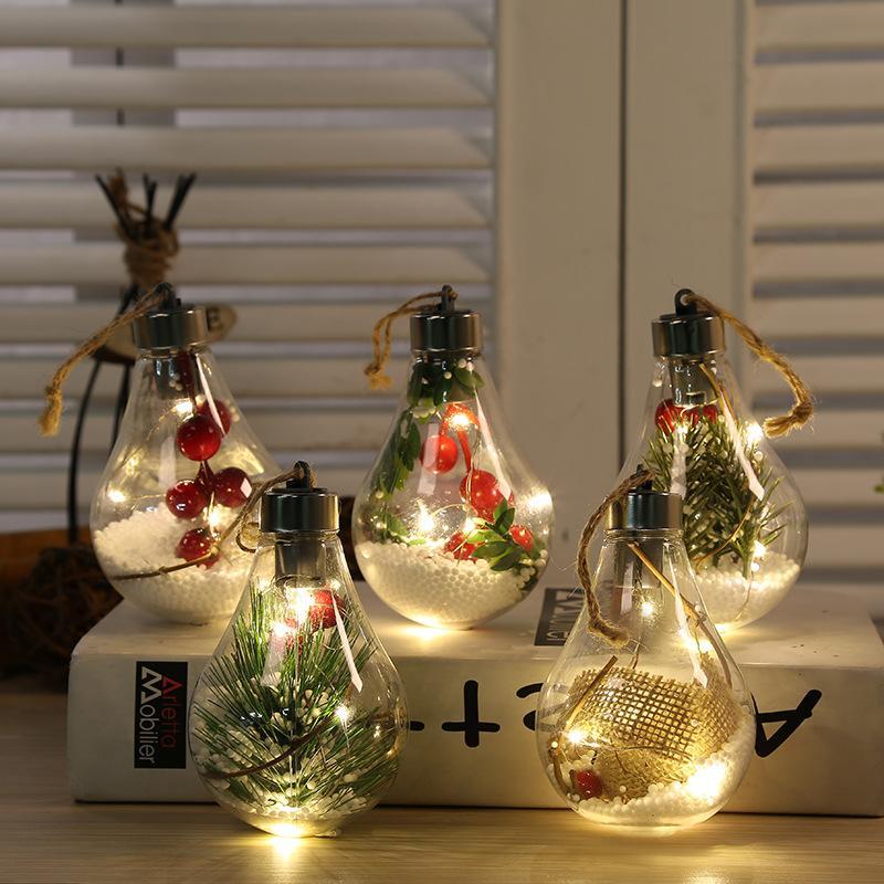 Led Transparent Christmas Ball. Christmas Decorations. Christmas Tree Decoration Pendant Plastic Ball Bulb