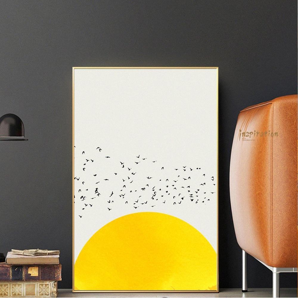 Nordic semplici tela Stampe Mille di uccelli astratta su tela dipinti murali Animali Poster e stampe Home Decor 9A5S #