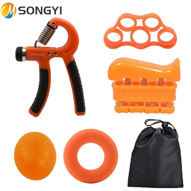 Songyi 5 adet Spor Ağır Sapları Bilek Rehabilitasyon Geliştirici Genişletici El Tutucu Genişletici Gücü Eğitim Cihazı S97